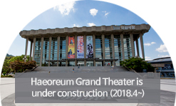 Haeoreum Grand Theater is under construction